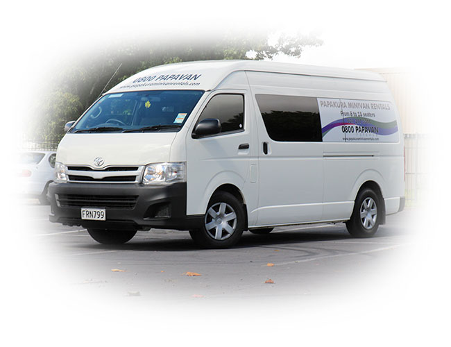 image of minivan for hire